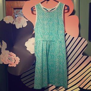 *NWOT* Charming Charlie Seafoam Floral Dress Sz. L